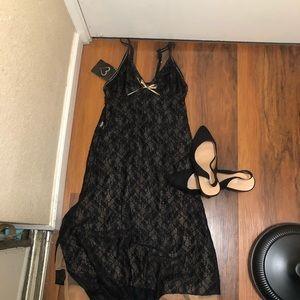 Black Lace nightie one piece XS